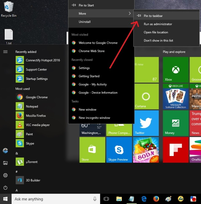 Remove Duplicate App Shortcut Icon in Taskbar on Windows 10 Desktop