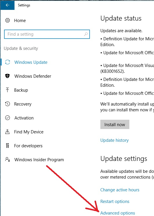 disable windows 10 home auto update