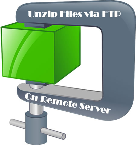 Extract ZIP file remotely on a Server via FTP in Windows   Notes