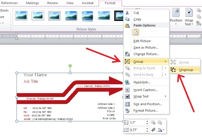 Export CorelDRAW File to Microsoft Office Word | Notes