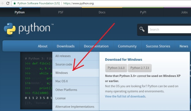 Python For Windows