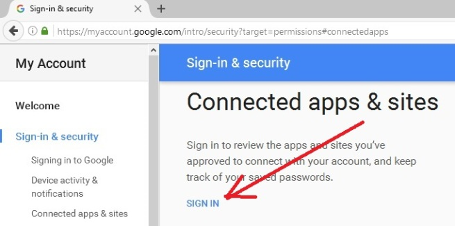 Disallow Google Chrome Apps and Sites Connected To Your Account | Notes
