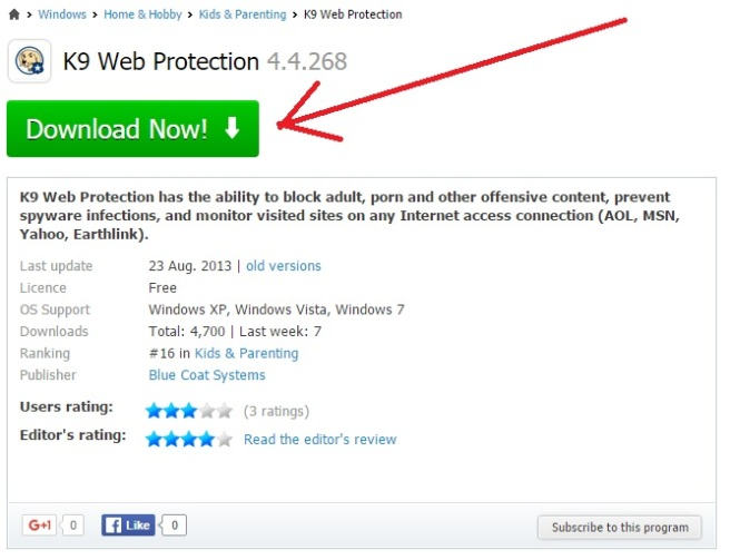 k9 web protection free download for windows xp