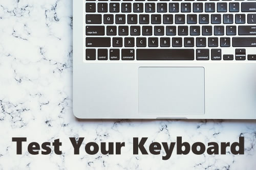 Test Keys on Keyboard | Notes