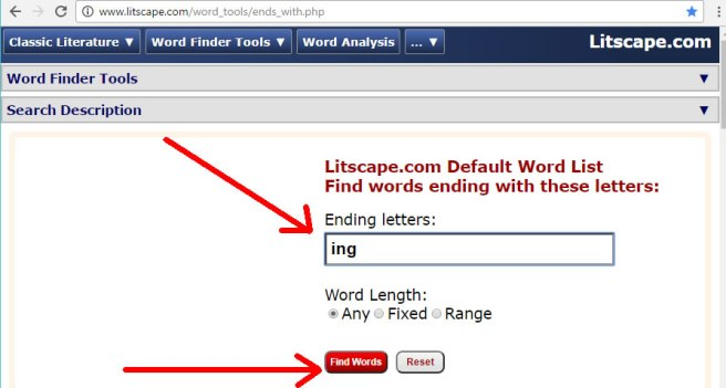 A Tool To Find Words With Rhymes For Poets and Writers