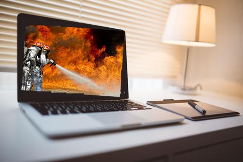Computer Laptop CPU Temperature Heats Up   Notes