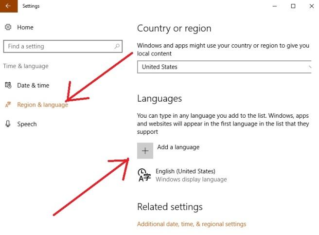 how to add language to windows 10 keyboard