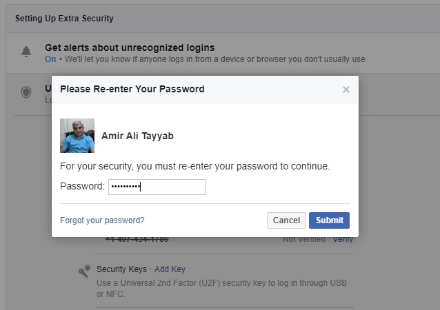 Disable Login Approval In Facebook Security | Notes