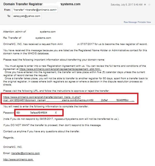 onlinenic email