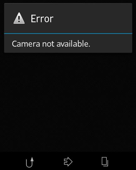 Sony Xperia L C2104 Error Camera Not Available | Notes