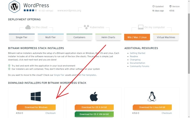 Install XAMPP and Bitnami WordPress on Windows 10 | Notes