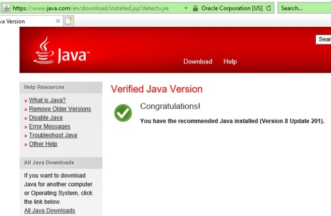 Application Blocked By Java Security – Windows 10 Internet Explorer
